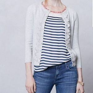 Anthropologie Sparrow Ruffle Front Sweater Size S